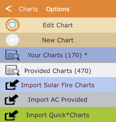 Import Quick*Charts menu button