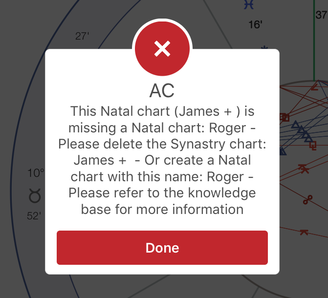 Synastry natal chart error message