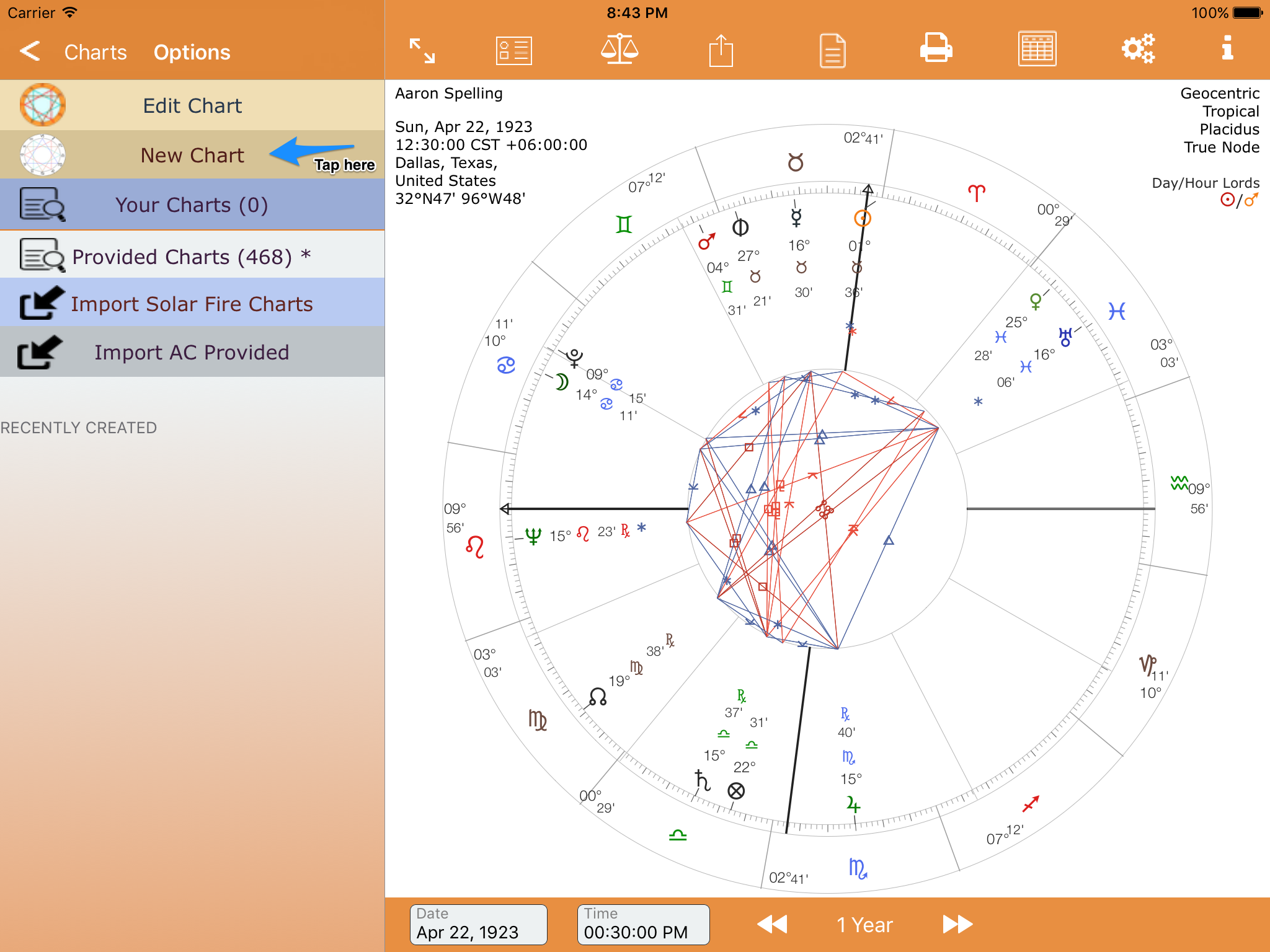 Your first natal chart astroconnexions new chart tap new nvjuhfo Choice Image