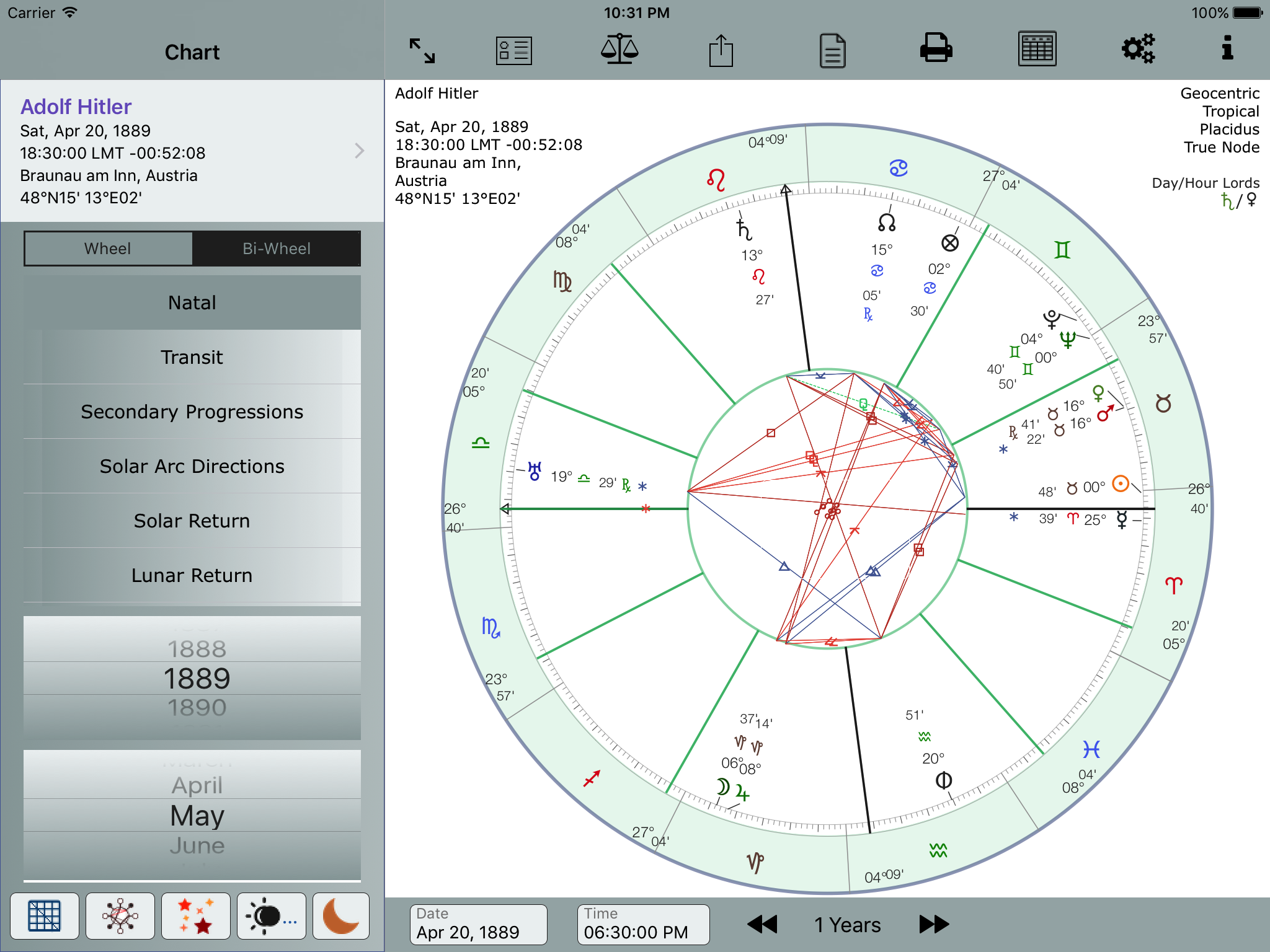 Detailed screenshots astroconnexions natal chart proportional nvjuhfo Gallery