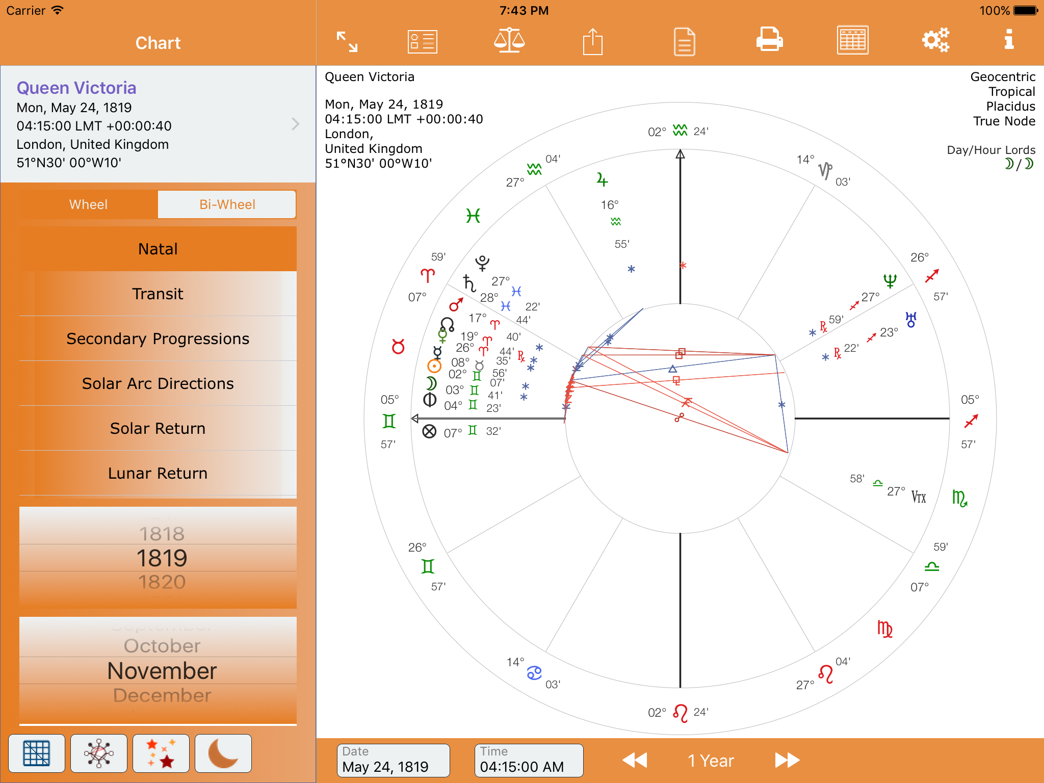 Detailed screenshots astroconnexions natal charts traditional proportional proportional with terms proportional with terms and triplicities nvjuhfo Gallery