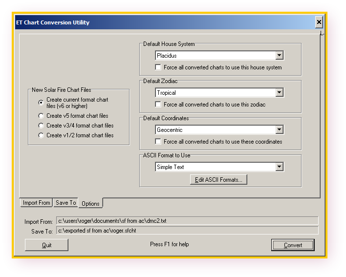 Ascii Format Simple Text