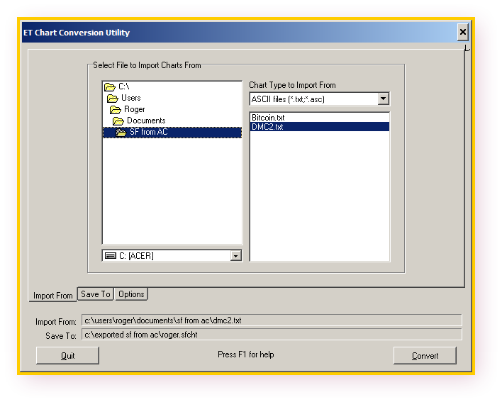 Exported text File Location