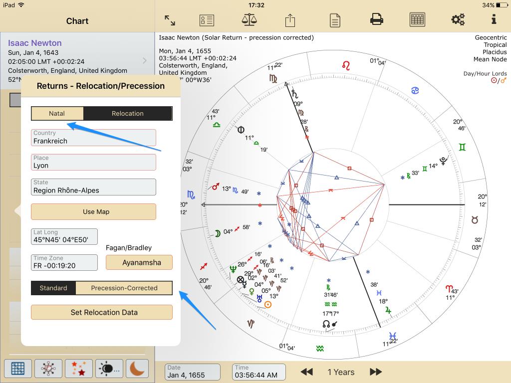 Isaac Newton SR precession corrected Configuring AC