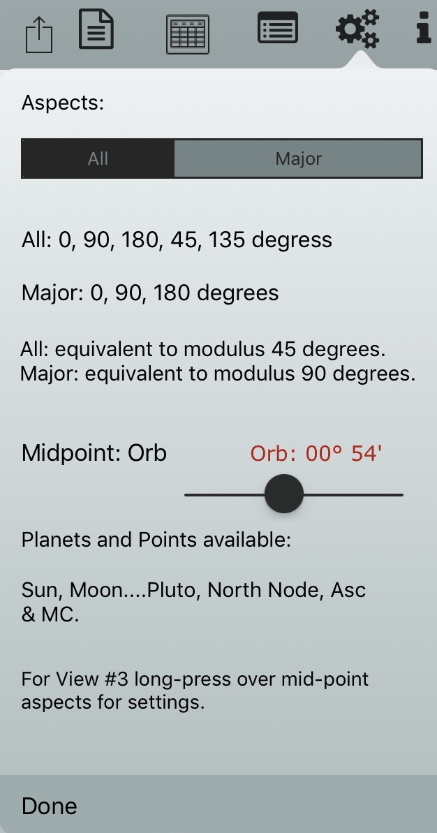 Uranian aspects - Orb Setting