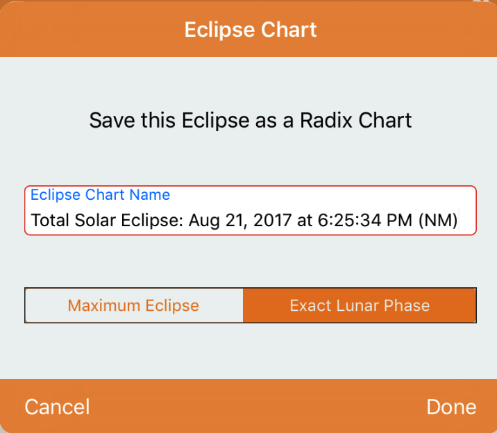 Eclipse Chart - Save