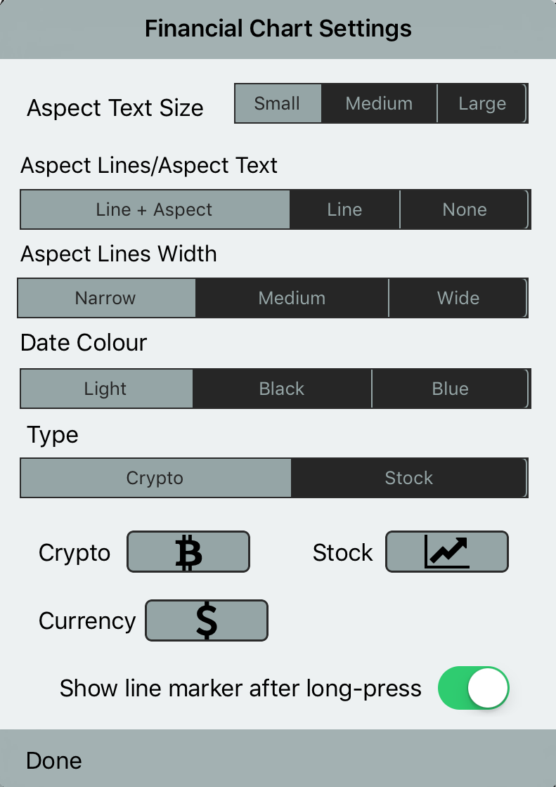 Financial Chart Settings-with Aspect Lines Width