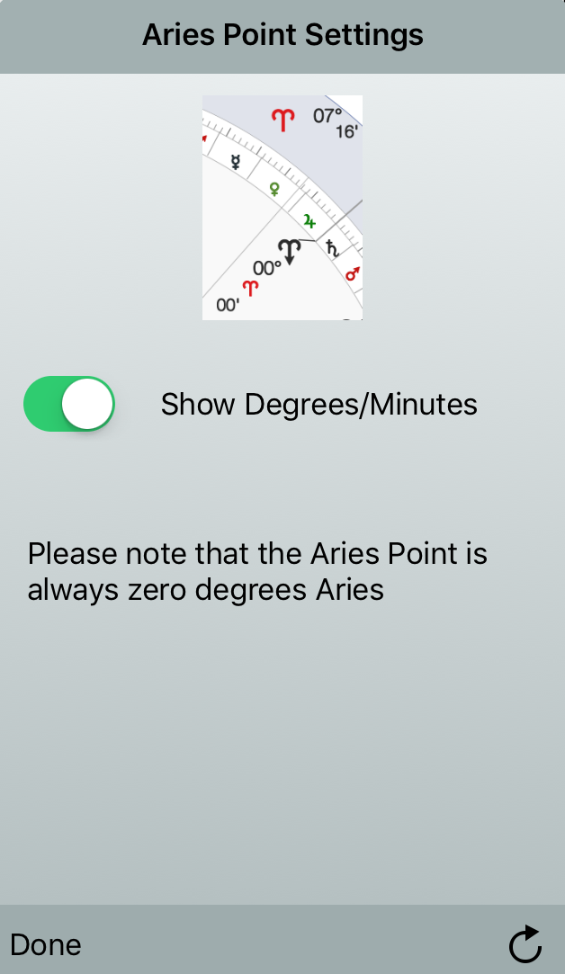 Aries Point Settings