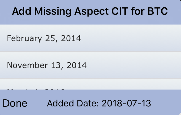 Added Missing Aspect CIT Date