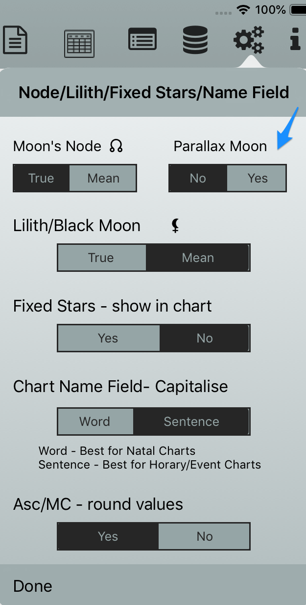 Parallax Moon Option