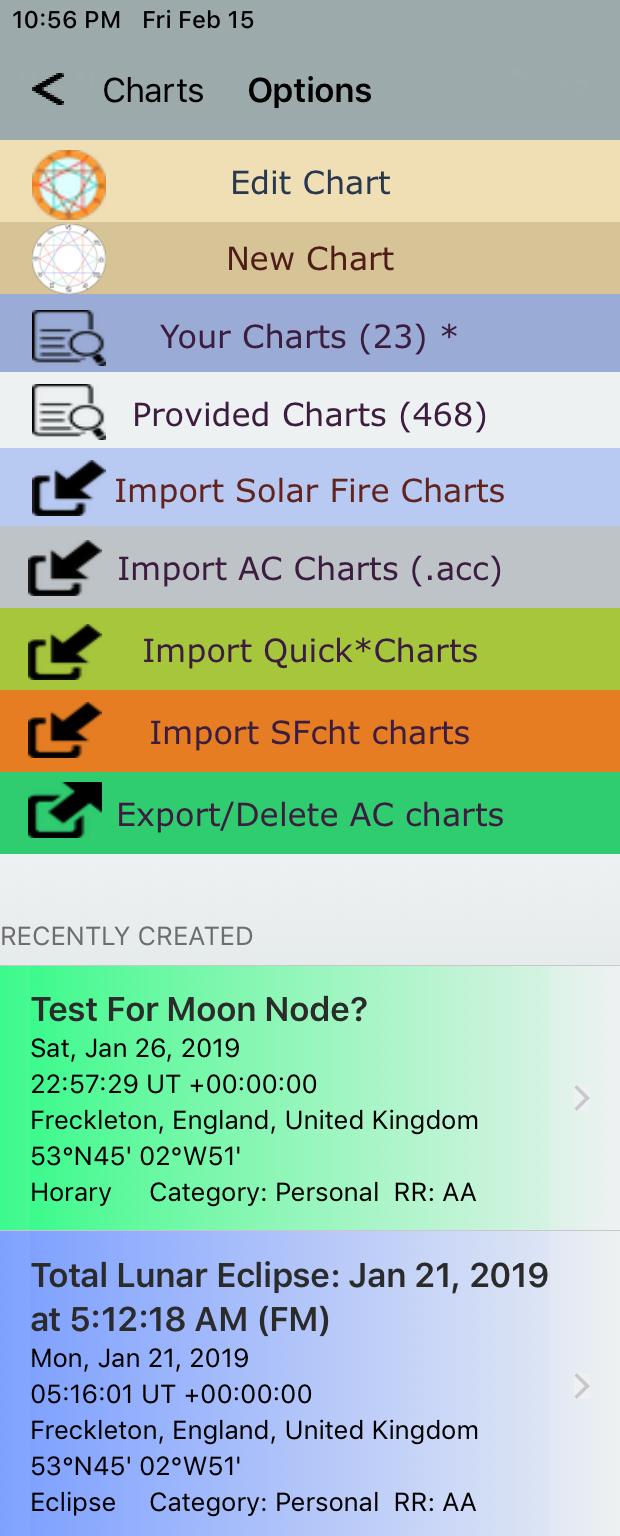Export Delete AC Charts