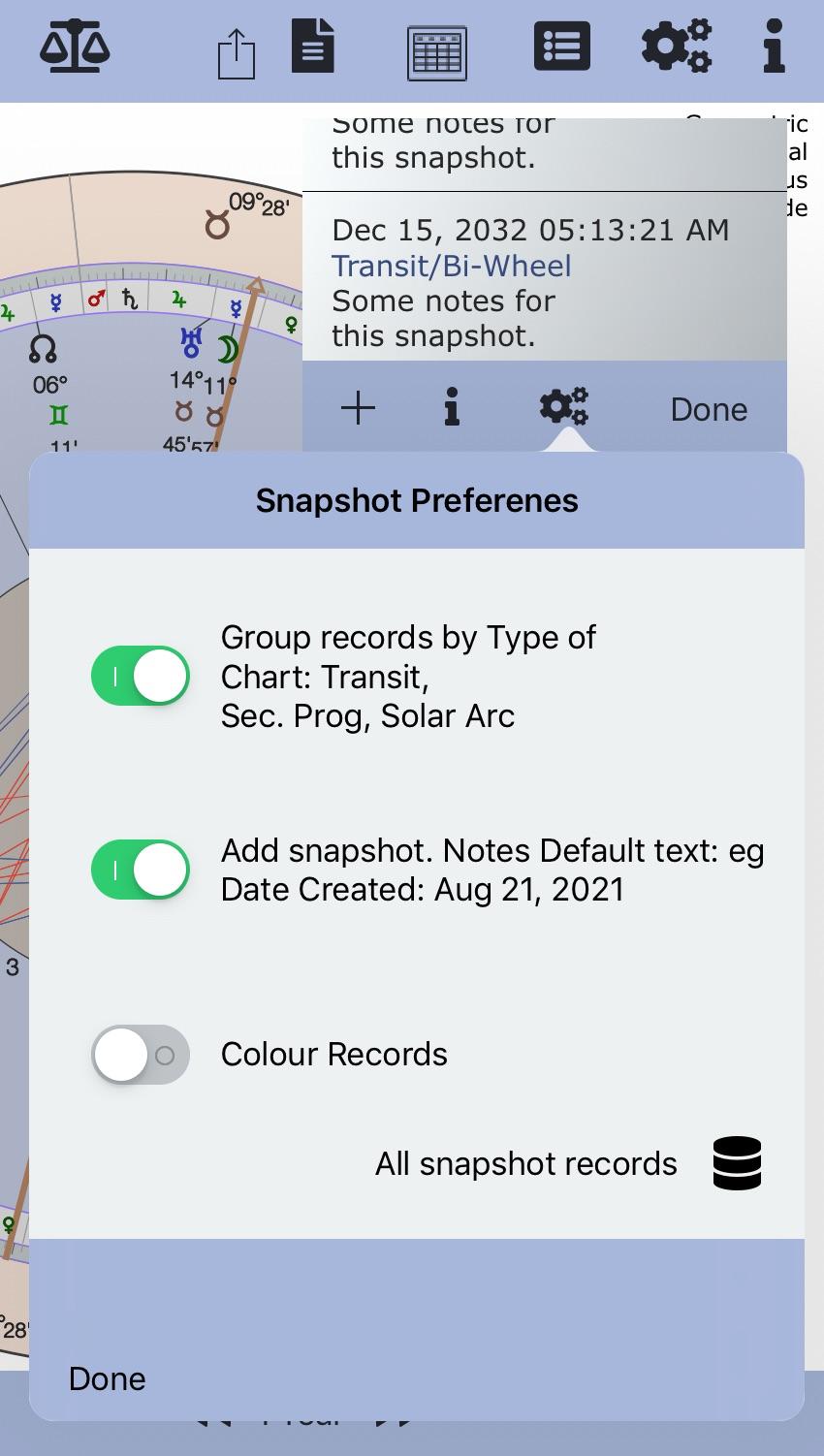 Snapshot Preferences